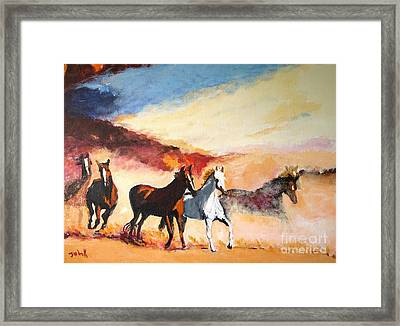 Dust In The Wind Framed Print by Judy Kay
