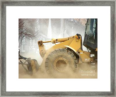 Dust Machine Framed Print by Olivier Le Queinec