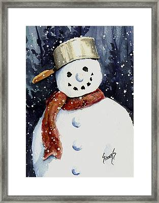 Dustie's Snowman Framed Print by Sam Sidders
