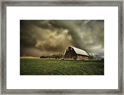 Dusty Barn Framed Print by Thomas Zimmerman