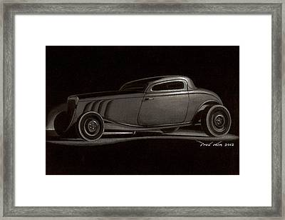 Dusty Ford Coupe Framed Print by Paul Kim