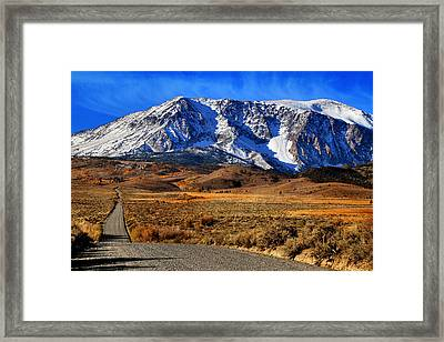 Dusty Gravel Road Framed Print by Donna Kennedy