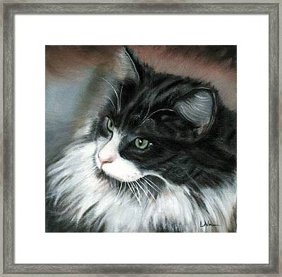 Dusty  Framed Print by LaVonne Hand