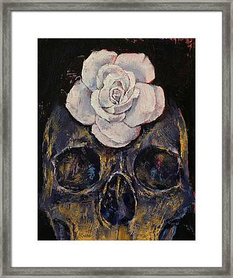 White Rose Framed Print by Michael Creese