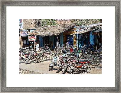 Dusty Scooters Framed Print by Linda Phelps
