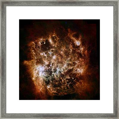 Dusty Space Cloud Framed Print by Space Art Pictures
