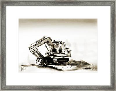 Duty Dozer In Sepia Framed Print by Kip DeVore