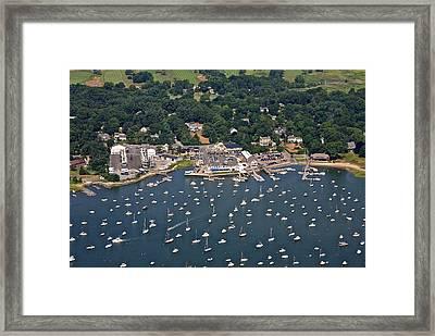 Duxbury Harbor And Downtown Duxbury Framed Print by Dave Cleaveland