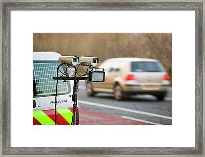 Dvla Checking Cars For Current Car Tax Framed Print by Ashley Cooper