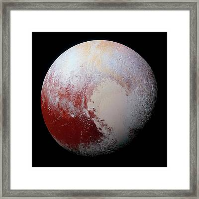 Dwarf Planet Pluto Framed Print by Nasa/jhuapl/swri