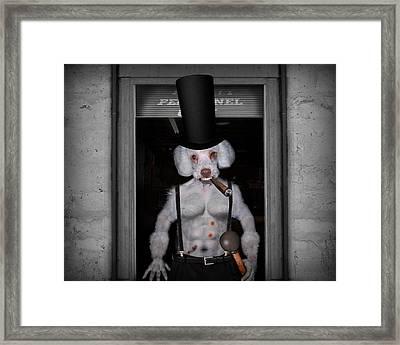 Dwight The Canine Gentleman Framed Print by Robert Sanders