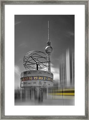 Dynamic-art Berlin City-centre Framed Print by Melanie Viola