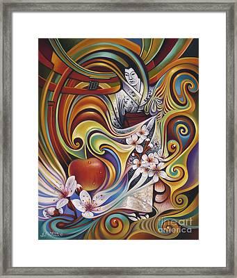 Dynamic Blossoms Framed Print by Ricardo Chavez-Mendez