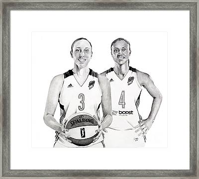 Dynamic Duo Framed Print by Devin Millington