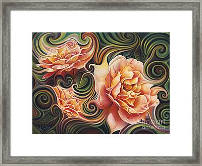 Dynamic Floral V  Roses Framed Print by Ricardo Chavez-Mendez