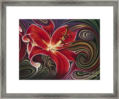 Dynamic Reds Framed Print by Ricardo Chavez-Mendez