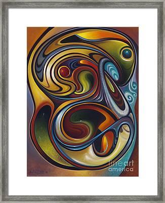 Dynamic Series #15 Framed Print by Ricardo Chavez-Mendez