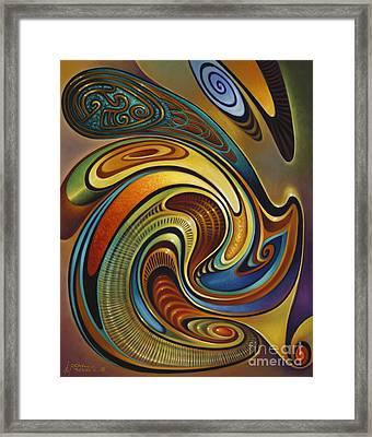 Dynamic Series #19 Framed Print by Ricardo Chavez-Mendez