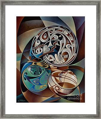 Dynamic Still Il Framed Print by Ricardo Chavez-Mendez