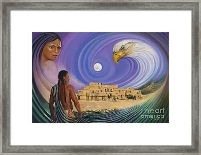 Dynamic Taos I Framed Print by Ricardo Chavez-Mendez