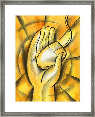 E- Business Framed Print by Leon Zernitsky