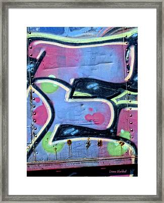 E Is For Equality Framed Print by Donna Blackhall