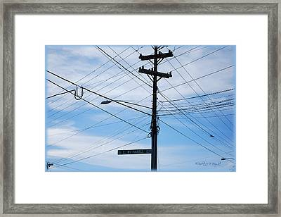 E Wt Harris Blvd - Charlotte Framed Print by Paulette B Wright