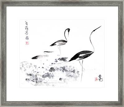 Each Finds Joy In His Own Way Framed Print by Oiyee At Oystudio