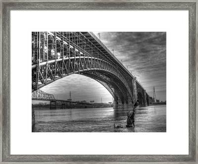Eads Bridge Framed Print by Jane Linders