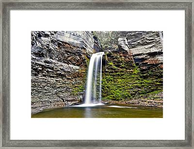 Eagle Cliff Falls Framed Print by Frozen in Time Fine Art Photography