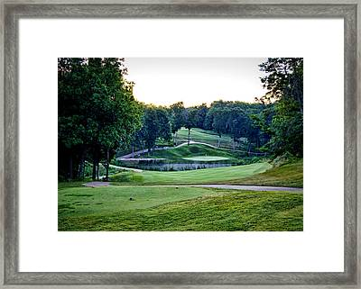 Eagle Knoll - Hole Fourteen From The Tees Framed Print by Cricket Hackmann