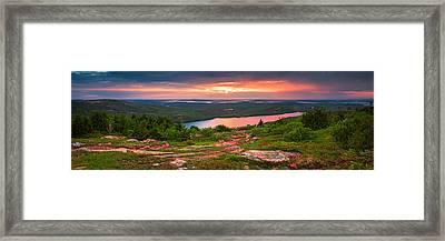 Eagle Lake Sunset  Framed Print by Emmanuel Panagiotakis