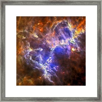 Eagle Nebula Framed Print by Adam Romanowicz