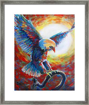 Eagle Takes Charge Framed Print by Tamer and Cindy Elsharouni