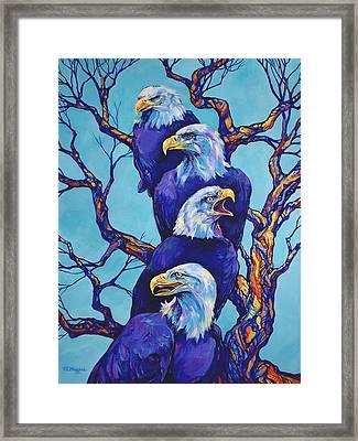 Eagle Tree Framed Print by Derrick Higgins