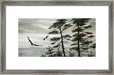 Eagles Eden Framed Print by James Williamson