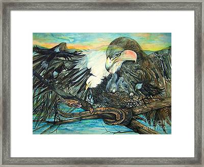 Eagles Nest Framed Print by Laneea Tolley