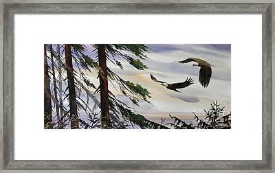Eagles Romance Framed Print by James Williamson