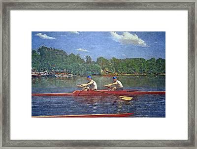 Eakins' The Biglin Brothers Racing Framed Print by Cora Wandel