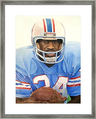 Earl Campbell Framed Print by Michael  Pattison