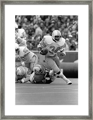 Earl Campbell Framed Print by Gianfranco Weiss