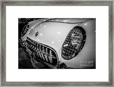Early 1950's Chevrolet Corvette C1 Framed Print by Paul Velgos