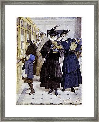 Early 20th Century German Post Office Framed Print by Cci Archives