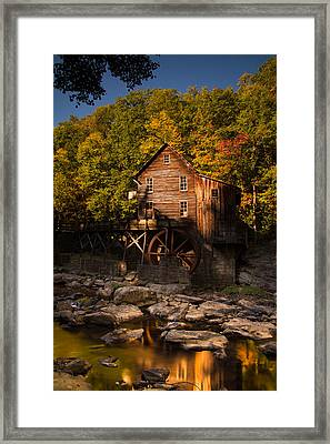 Early Autumn At Glade Creek Grist Mill Framed Print by Shane Holsclaw
