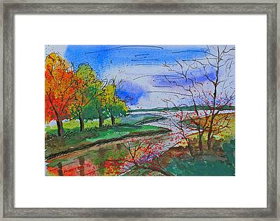 Early Autumn Landscape Framed Print by Shakhenabat Kasana