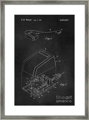 Early Computer Mouse Patent 1984 Framed Print by Edward Fielding