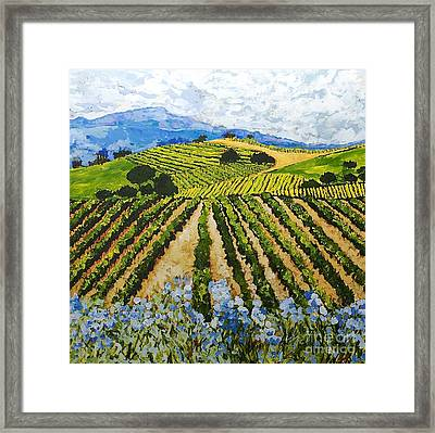 Early Crop Framed Print by Allan P Friedlander