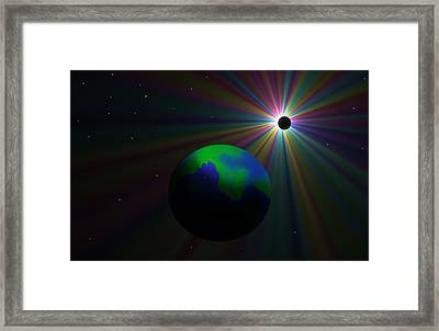Early Earth Lunar Eclipse Framed Print by Ricky Haug