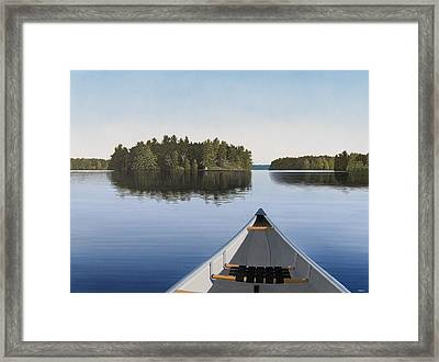 Early Evening Paddle  Framed Print by Kenneth M  Kirsch
