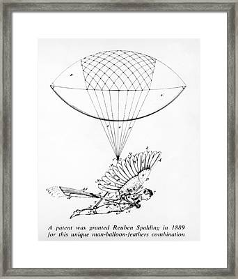 Early Flight Design Framed Print by Underwood Archives